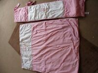 Good condition toys r us I love my bear cot/cotbed quilt and cot/cotbed bumper in pink