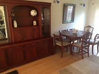 Dining table & side unit