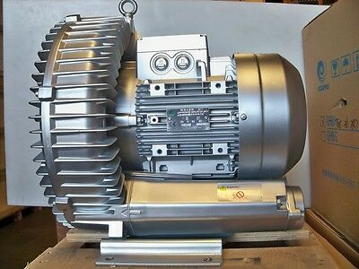 Regenerative Blower 6.1hp 221cfm 124h2o Press 480v3ph Side Channel Blower