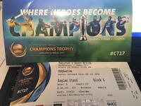 Icc Champions Trophy Pakistan v South Africa 4 Adult £35 & 2 Child £15 each