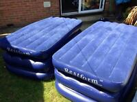 2 restform single raised airbeds