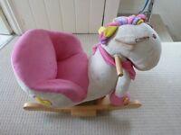 Pink Girls Baby Horse Rocker