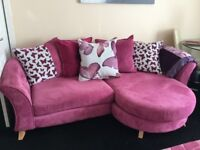 Beautiful sofa,s one year old, non smoking household, no wear or tear or marks