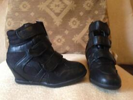 Girls new black ankle boots size 12