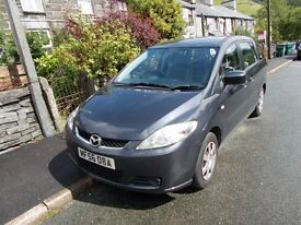 Mazda 5, 2006, 7 seats, body and interio good, runs well, colour Gey