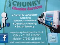 CARPET CLEANING / UPHOLSTERY / END OF TENANCY CLEAN / DOMESTIC CLEANING / 24-7 / PRICES FROM £40