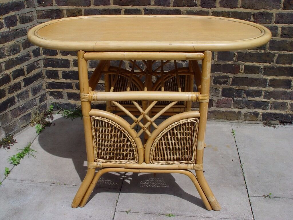 Free delivery bamboo conservatory table and chairs retro furniture camden town