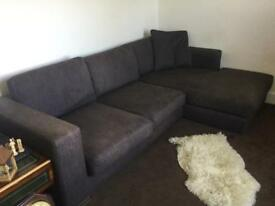 Dark brown corner sofa. Good condition and incredibly comfortable. Easy to transport.