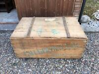 Very large wooden box vintage antique