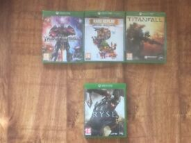 Xbox One Games - 3 Brand New Games still sealed and 1 x 2nd Hand. Individually priced - Reduced).