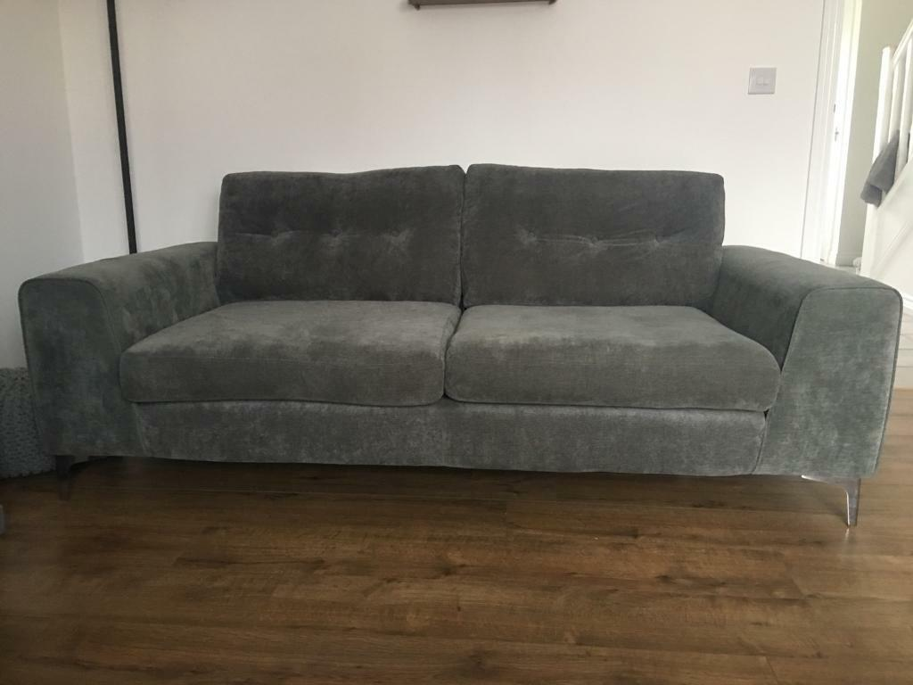 Demure 2 Amp 3 Seater Grey Sofa For Sale In Loanhead