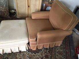 Free armchair and footstool