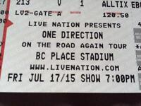One direction ticket for July 17th in Vancouver