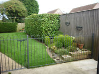 METAL FENCING WITH GATE