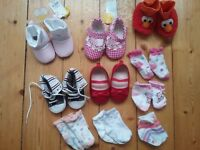 Baby girl clothing bundle age 6-9 months (34 items) dresses, shoes, t-shirts, vests, leggings, coat