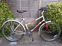 Ladies Peugeot Mountain / City Bike with mudguards and Bicycle pannier rack