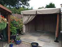 High qulity specification Gazebo 3 metres square with 4 side panels Colour Beige