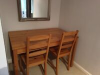 SOLD Ikea dining table and 4 chairs