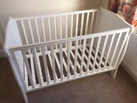 Mamas & Papas White Cot - URGENT - we accept offers