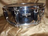 Olympic by Premier steel snare drum