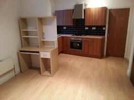 NEW LARGE 1 BED STUDIO FLAT **ALL BILLS INC**,WIFI 5 MINS TO CITY FROM £109P/W,NEW BATH & KITCH