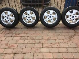 Ford transit custom alloy wheels and tires