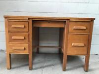 Vintage golden Oak writing Desk.