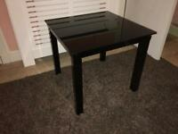 Glass bedside tables X 2