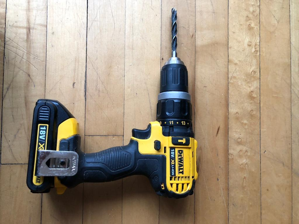 Dewalt 18v Cordless Drill Including The Carry Case A Battery Charger