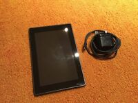 Kindle Fire with charger