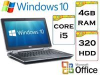 NICE QUICK - Dell Latitude e6330 i5 2.6 Ghz 4gb Ram 320gb HDD Windows 10 Laptop