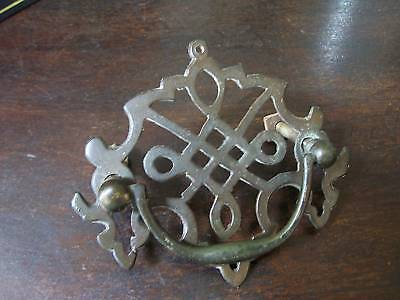 EARLY VICTORIAN BRASS DRAW HANDLE
