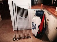 Golf clubs-set of matching Drive, Fairway Wood & Irons (3-SW) plus putter-golf bag-Glove-Balls-Tees for sale  North Yorkshire