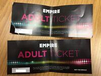 2x Empire cinema tickets