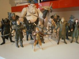 LORD OF THE RINGS AND THE HOBBIT FIGURES