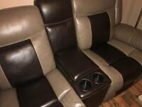 Full leather BRAND NEW 3 & 2 seater reclining sofa