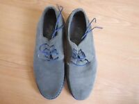 Nearly New Grey Suede Boys Shoes - Size 1