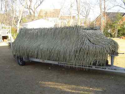 """52""""x 60' CONTINUOUS ROLL Wrap Your Boat Duck Grass Fresh Duck Blinds Mats"""