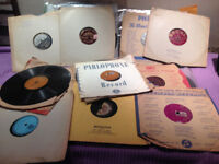 Antique gramaphone shellac 78s records. All over 100 years old.
