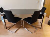 Dinning Table and 4 Chairs Set + Free Sofa