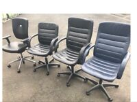 Leather Swivel Recliner Chairs Home Office. Computer