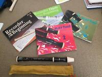 Recorder x 2 and 4 music books