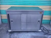 COMMERCIAL electric HOT CUPBOARD stainless steel work top restaurants & catering
