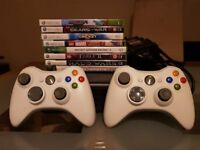 Xbox 360 with Two Controllers and 8 Games - Excellent Condition