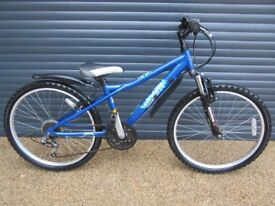 CHILDS DAWES LIGHTWEIGHT ALUMINIUM FRONT SUSPENSION BIKE IN VERY GOOD CONDITION. SUIT APPROX. AGE.8+