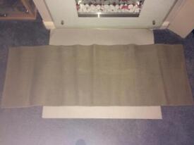 Hessian type mat/rug/carpet