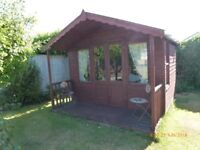 Lovely Summer house 10 feet by 8 feet 2 feet by 10 porch on front