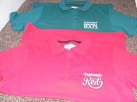 2 X New Polo Shirts Advertising Thatcher's Cider Size M ( Price iIs For Both But Can Sell Seperate )