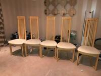 Charles Rennie Mackintosh style dining chairs