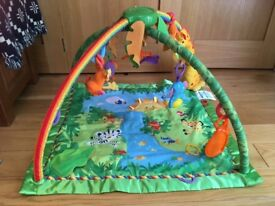 Fisher Price Rainforest Activity Baby Gym and extra Tiny Love hanging toys
